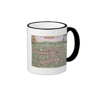 Map of Zurich, from 'Civitates Orbis Terrarum' by Ringer Coffee Mug