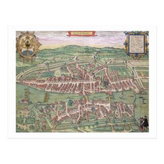 Map of Zurich from Civitates Orbis Terrarum by Postcard