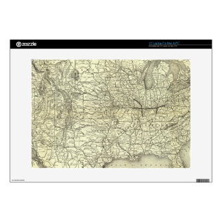 Map Ohio and Mississippi Railway Decals For Laptops