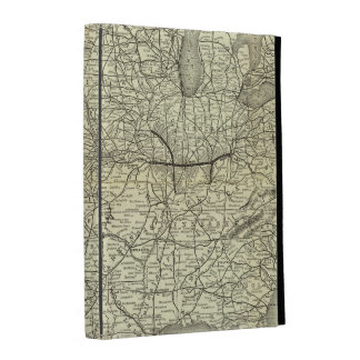 Map Ohio and Mississippi Railway iPad Folio Case