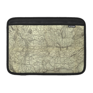 Map Ohio and Mississippi Railway MacBook Air Sleeves