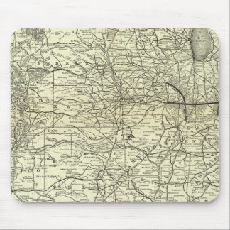 Map Ohio and Mississippi Railway Mouse Pad