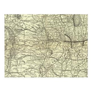 Map Ohio and Mississippi Railway Postcard