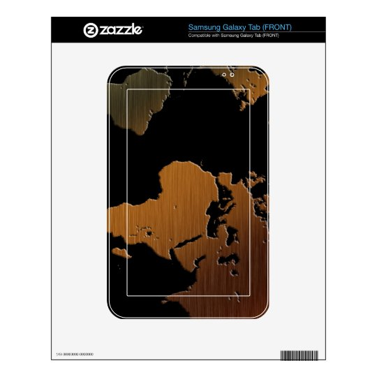 Map on High Quality Gift Item for your Loved Ones Samsung Galaxy Tab Decal