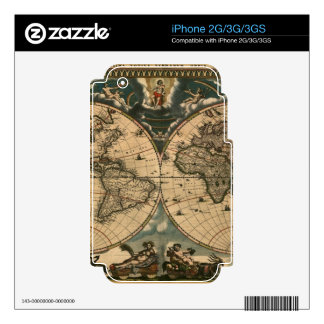 Map on High Quality Gift Item for your Loved Ones iPhone 3GS Decals