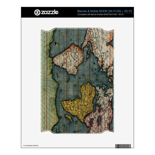 Map on High Quality Gift Item for your Loved Ones Skins For NOOK