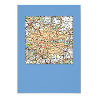 Map ooof London England Card