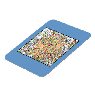 Map ooof London England Rectangle Magnets