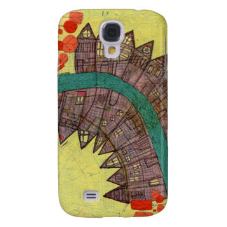Map painting galaxy s4 cover