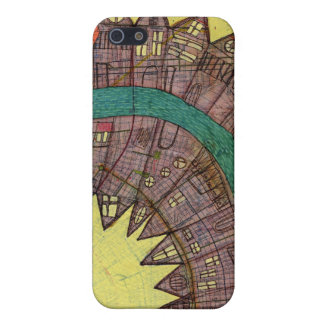 Map painting iphone 4 iPhone 5 covers