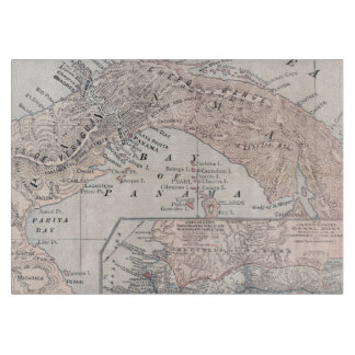 MAP: PANAMA, 1907 CUTTING BOARD