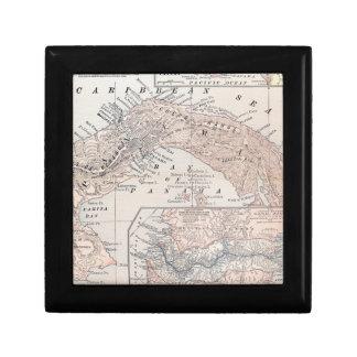 MAP: PANAMA, 1907 JEWELRY BOX