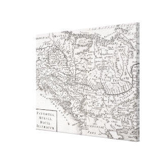 MAP: PANNONIA CANVAS PRINT