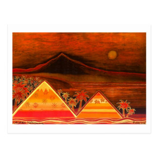 """Map Pastell kind """"Paradise Iceland with Pyramids """" Postcards"""