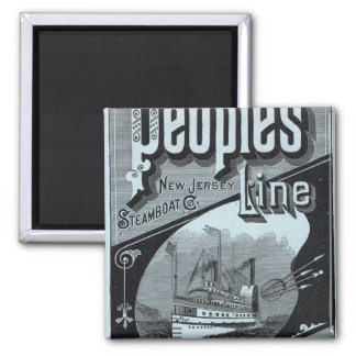Map Peoples Line of Steamers 2 Inch Square Magnet