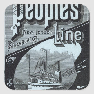 Map Peoples Line of Steamers Square Sticker