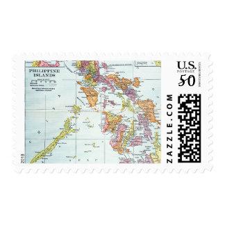 MAP: PHILIPPINES, 1905 POSTAGE