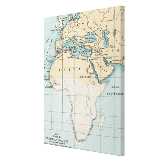 MAP: PHOENICIAN EMPIRE CANVAS PRINT