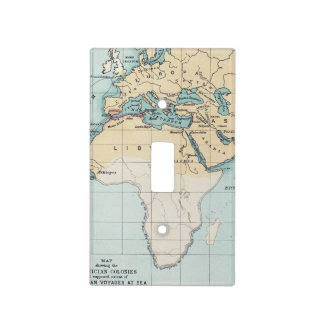 MAP: PHOENICIAN EMPIRE LIGHT SWITCH COVER