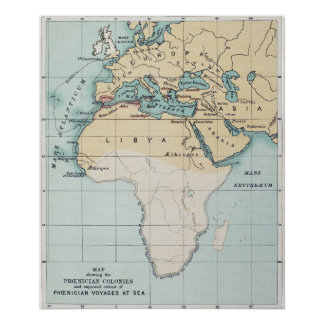 MAP: PHOENICIAN EMPIRE POSTER