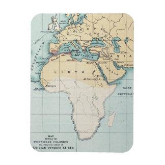 MAP: PHOENICIAN EMPIRE RECTANGULAR PHOTO MAGNET