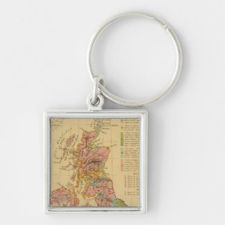 Map physical and mineralogical key chain