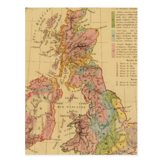 Map physical and mineralogical postcard