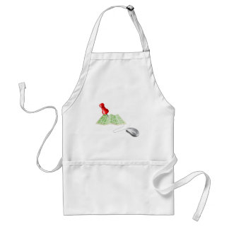 Map pin computer mouse aprons