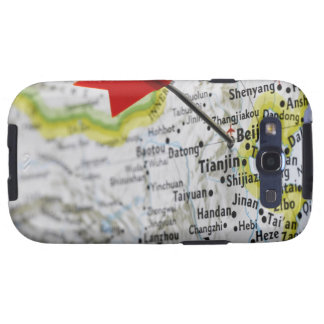 Map pin placed in Beijing, China on map, Samsung Galaxy S3 Covers