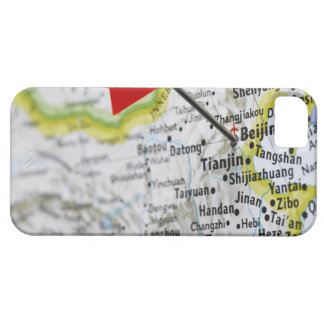 Map pin placed in Beijing, China on map, iPhone 5 Covers