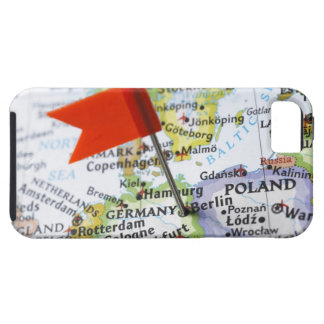 Map pin placed in Berlin, Germany on map, iPhone 5 Cases