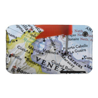 Map pin placed in Caracas, Venezuela on map, Case-Mate iPhone 3 Cases