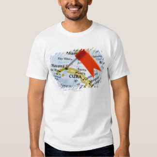 Map pin placed in Havana, Cuba on map, close-up T-Shirt