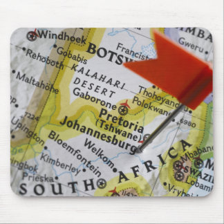 Map pin placed in Johannesburg, South Africa on Mouse Pad