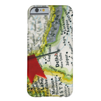 Map pin placed in New Delhi, India on map, iPhone 6 Case