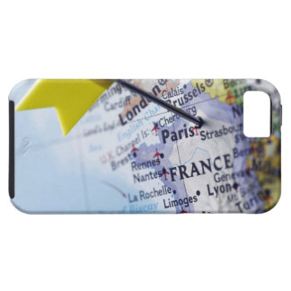 Map pin placed in Paris, France on map, close-up iPhone SE/5/5s Case