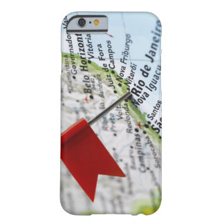 Map pin placed in Rio de Janeiro, Brazil on map, Barely There iPhone 6 Case
