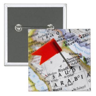 Map pin placed in Riyadh, Saudi Arabia on map,