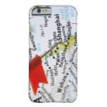 Map pin placed in Shanghai, China on map, iPhone 6 Case