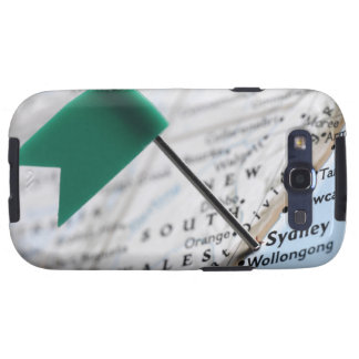 Map pin placed in Sydney, Australia on map, Samsung Galaxy SIII Cases