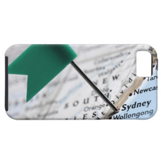 Map pin placed in Sydney, Australia on map, iPhone SE/5/5s Case
