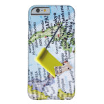 Map pin placed in Tokyo, Japan on map, close-up iPhone 6 Case