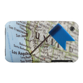Map pin placed on Los Angeles, California on Case-Mate iPhone 3 Cases