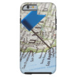 Map pin placed on Los Angeles, California on iPhone 6 Case