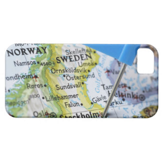 Map pin placed on Stockholm, Sweden on map, iPhone 5 Cases