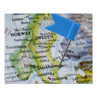 Map Of Sweden Posters Zazzle - Sweden map poster