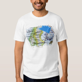 Map pin placed on Stockholm, Sweden on map, T-shirt