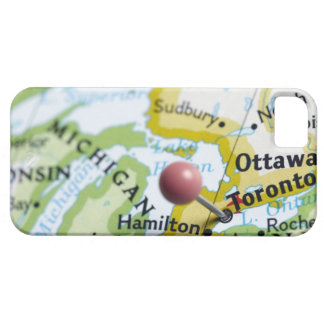 Map pin placed on Toronto, Canada on map, iPhone SE/5/5s Case