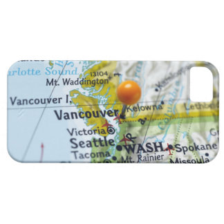 Map pin placed on Vancouver, Canada on map, iPhone SE/5/5s Case