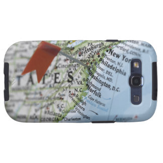 Map pin placed on Washington, D.C. on map, Galaxy SIII Covers